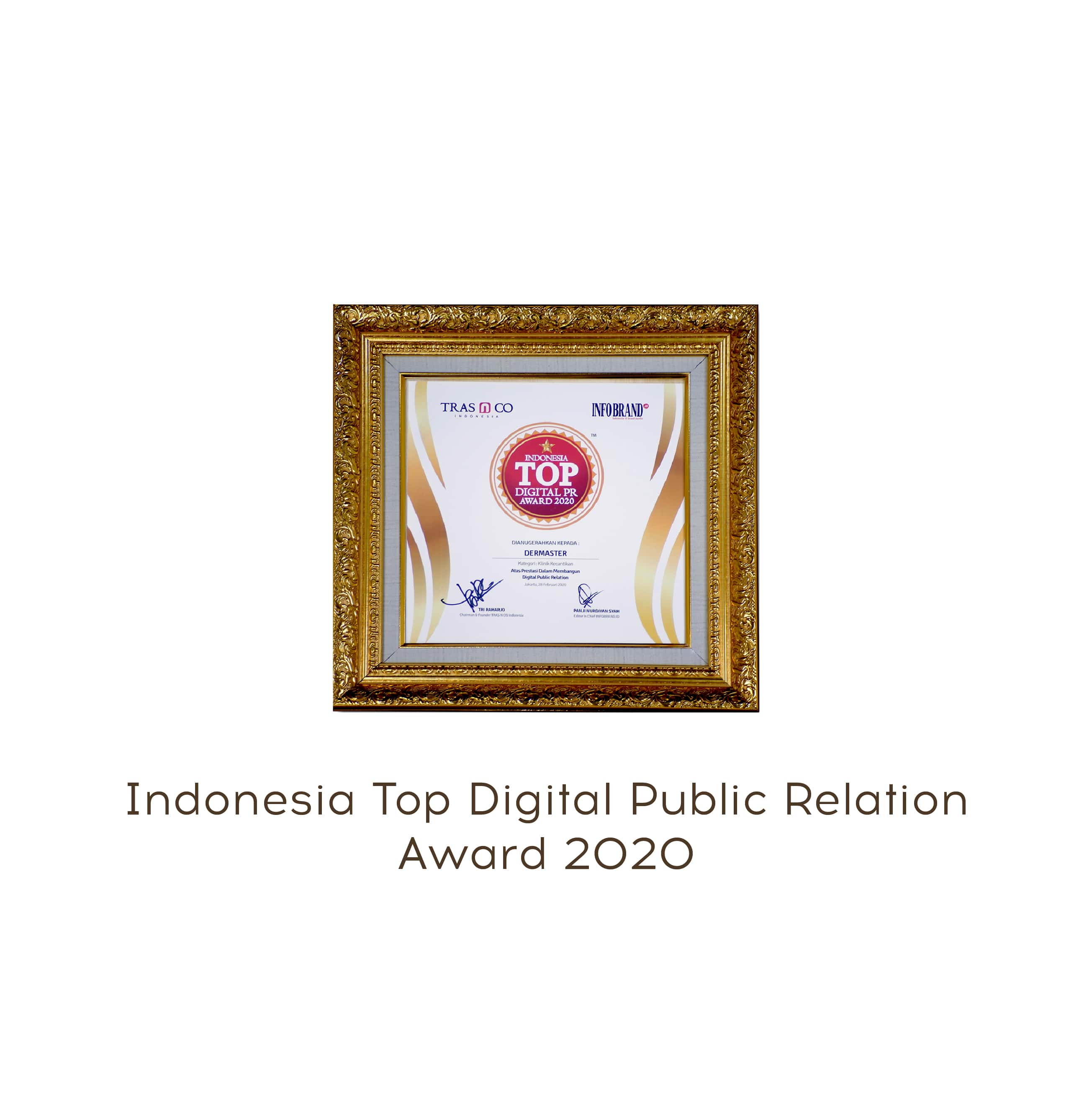 top digital public relation award